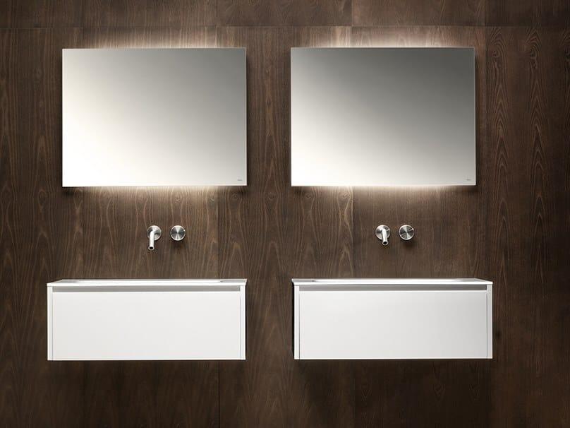 Mobile lavabo laccato sospeso con cassetti VIAVENETO | Mobile lavabo laccato by FALPER