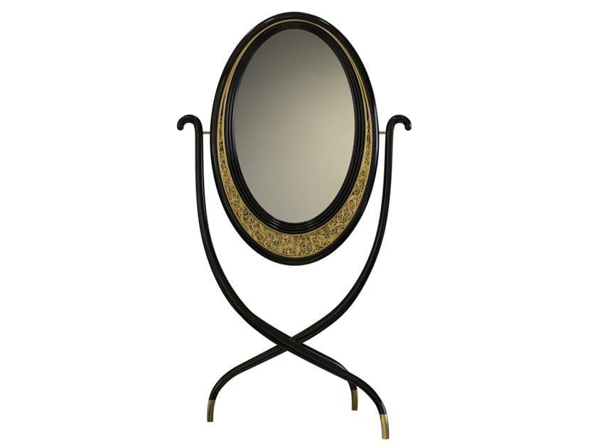 Tilting freestanding oval mirror VIANA | Mirror by Malabar