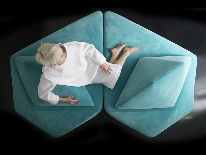 Sectional velvet sofa VIBRIO © by ggloop