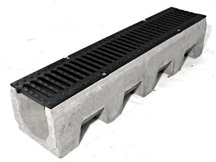 Cement Drainage channel and part VIBRO-BASE 150 by GRIDIRON GRIGLIATI