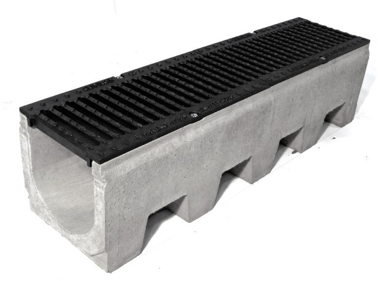 Cement Drainage channel and part VIBRO-BASE 200 by GRIDIRON GRIGLIATI