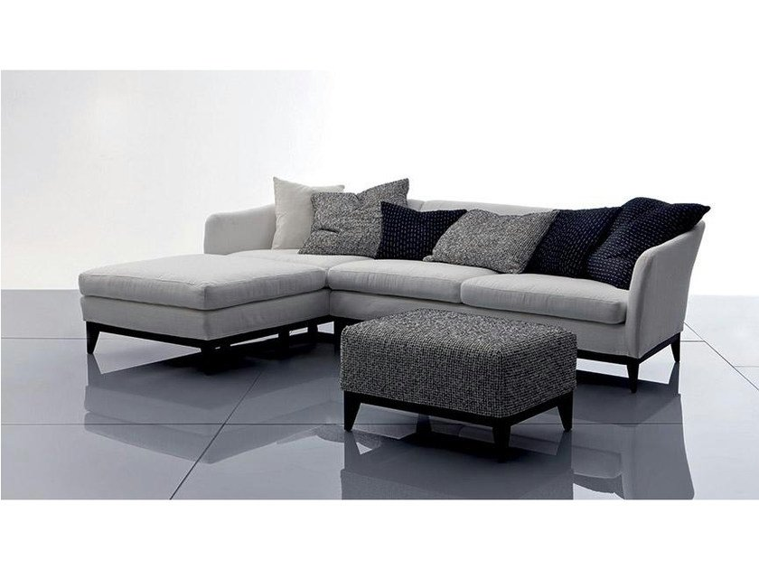 Fabric sofa with chaise longue VIC | Sofa with chaise longue Vic ...