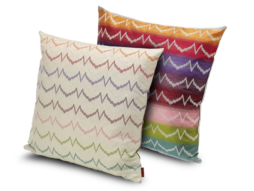 Motif fabric cushion VICENZA by MissoniHome