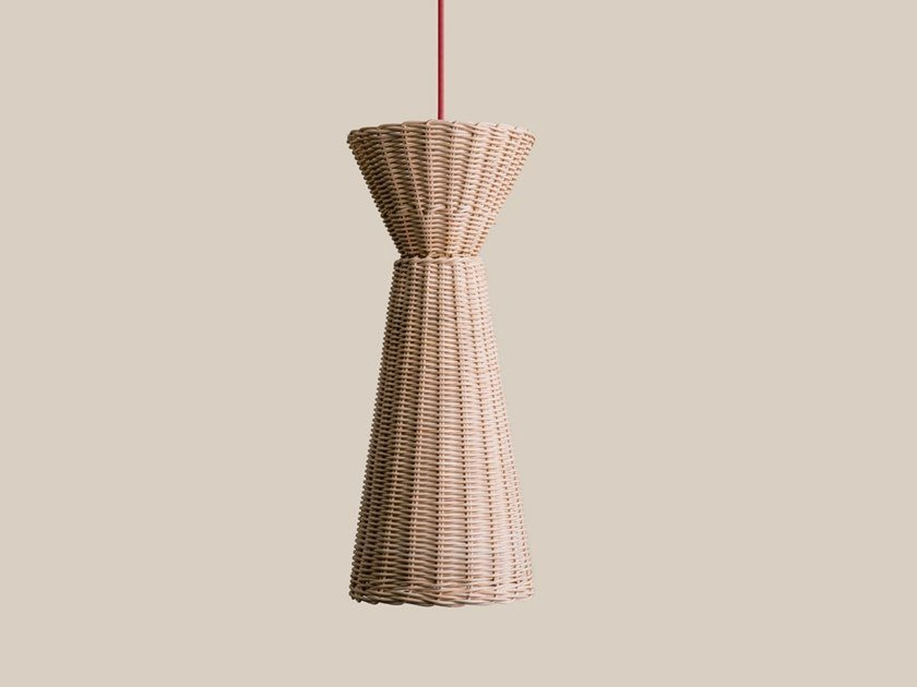 Woven wicker pendant lamp VICEVERSA by Bottega Intreccio