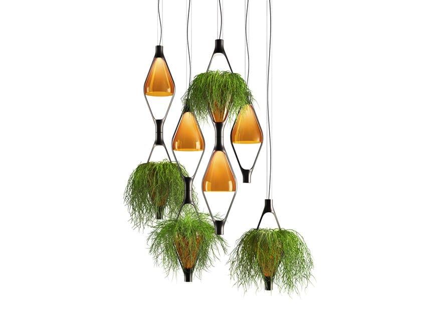 LED glass pendant lamp VICEVERSA by KUNDALINI