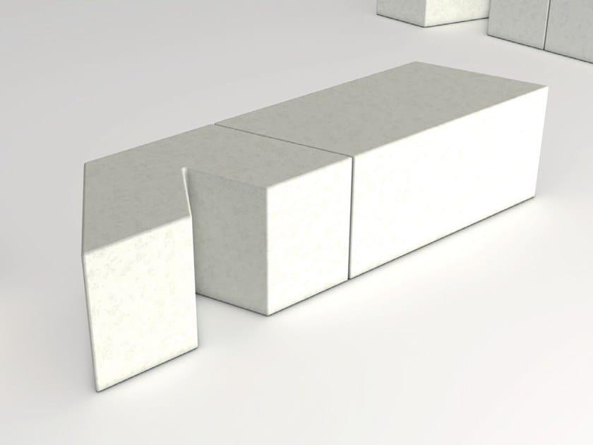Modular backless reconstructed stone Bench VICEVERSA V01/V02/V03 by Manufatti Viscio