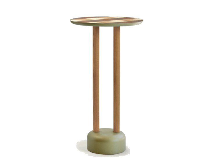 Round wooden high table VICHY | High table by Sancal