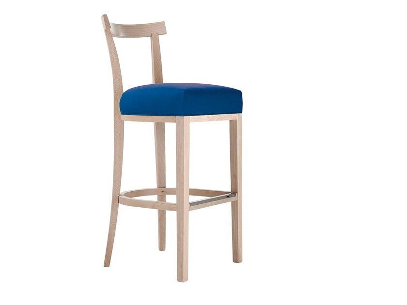 High upholstered beech stool VICTOR | Stool by Sedex