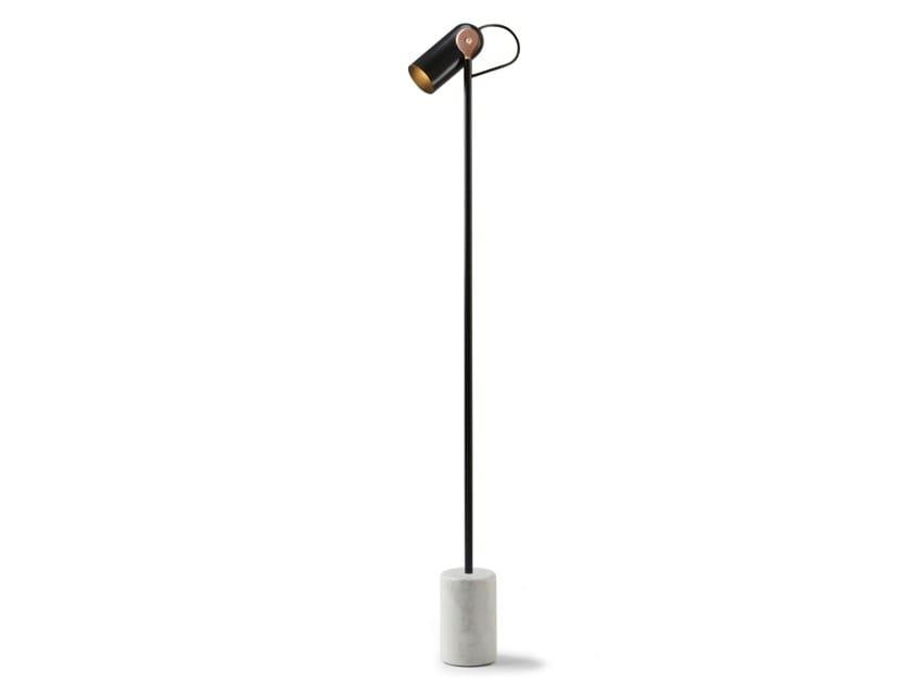 LED adjustable steel floor lamp VICTOR by Inventive