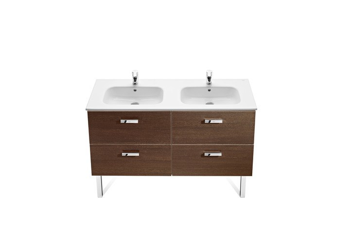 VICTORIA BASIC | Mueble bajo lavabo doble By ROCA SANITARIO