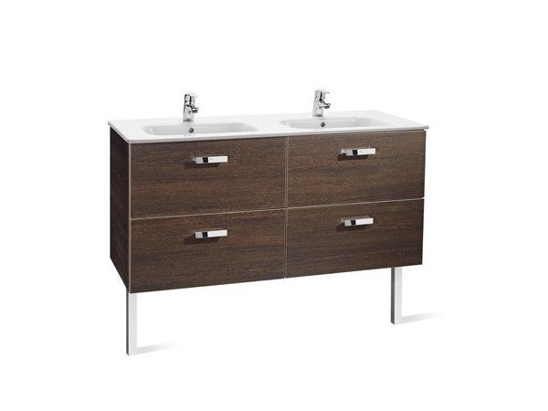 Double vanity unit with drawers VICTORIA BASIC   Double vanity unit by ROCA SANITARIO