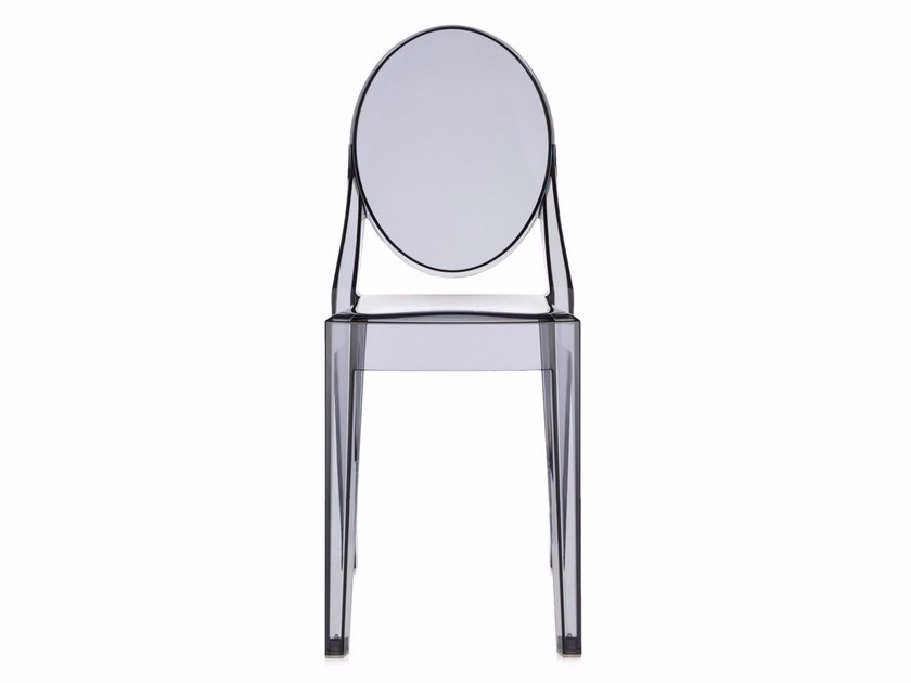 Sedia impilabile in policarbonato VICTORIA GHOST By Kartell design ...
