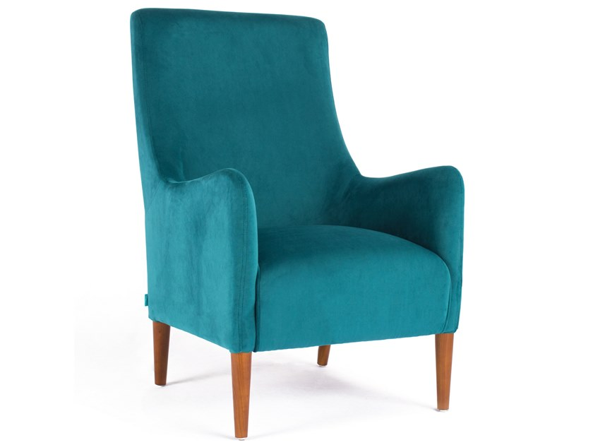 High-back fabric armchair VICTORIA by meeloa