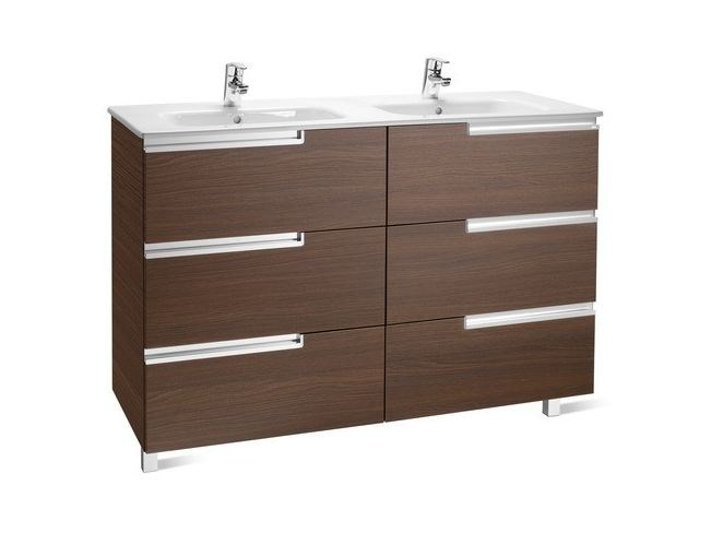 Double wooden vanity unit with drawers VICTORIA-N | Vanity unit by ROCA SANITARIO