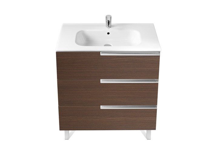 Single wooden vanity unit with drawers VICTORIA-N | Vanity unit with drawers by ROCA SANITARIO