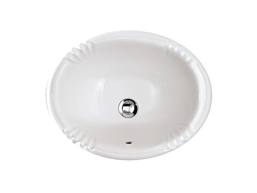 Undermount oval washbasin VICTORIAN | Inset washbasin by Devon&Devon