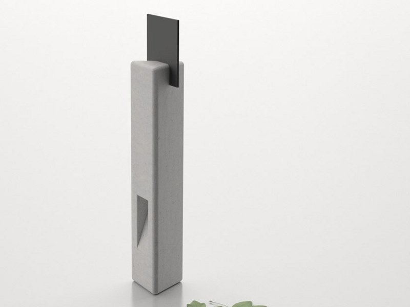 Fixed bollard post with built-in light VIDA | Bollard with built-in light by Sit