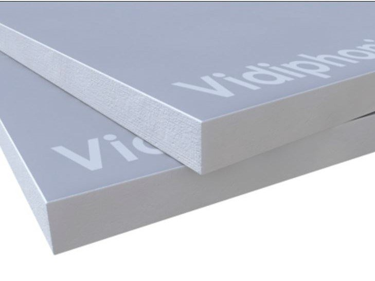Gypsum fiber Sound insulation and sound absorbing panel in mineral fibre VIDIPHONIC by Knauf Italia