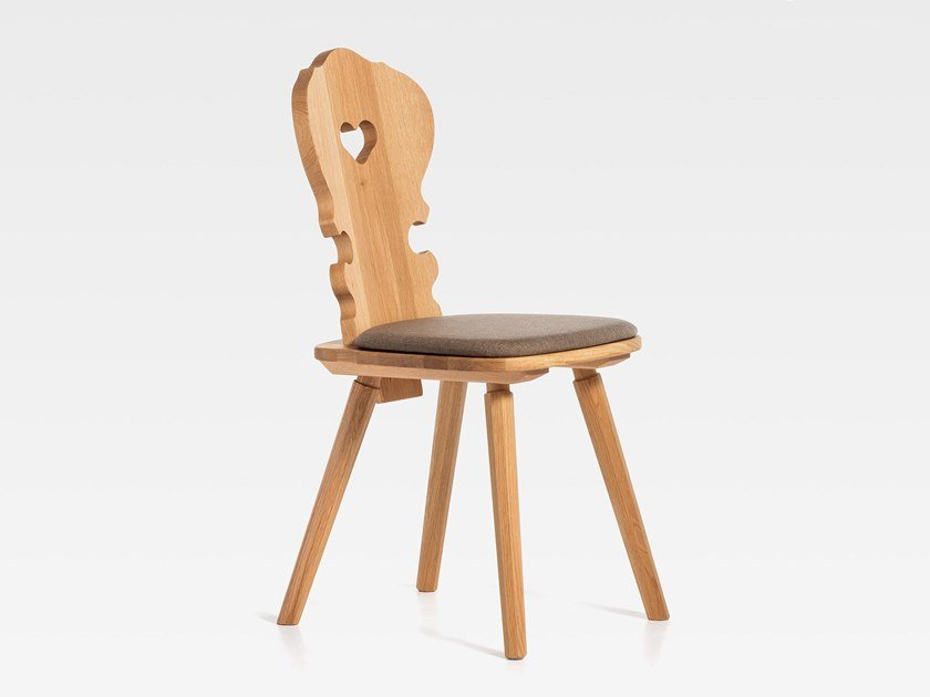 Wooden chair with integrated cushion VIENNA | Chair with integrated cushion by SIPA