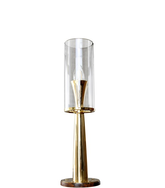 Contemporary style brass table lamp VIENNA I | Table Lamp by Creativemary