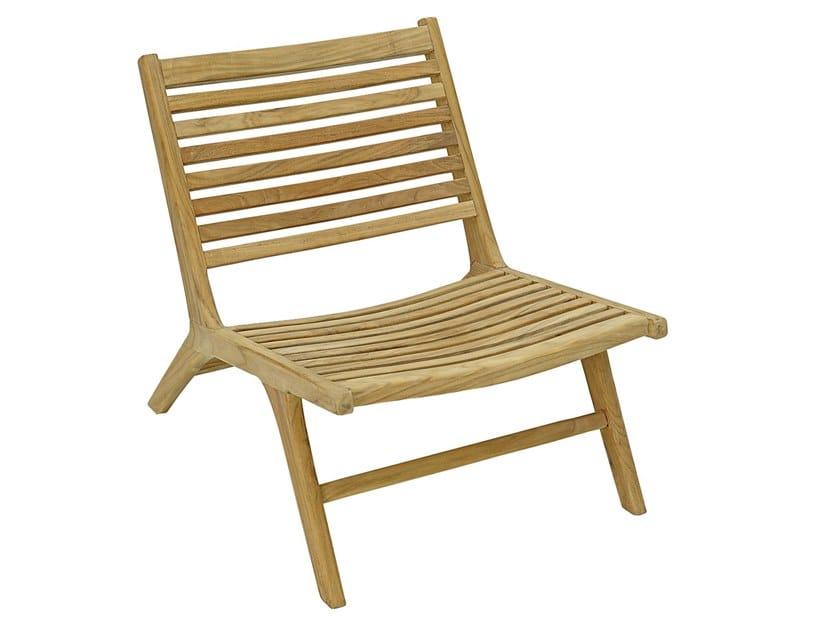 Garden teak easy chair VIENNA RELAX | Teak easy chair by cbdesign