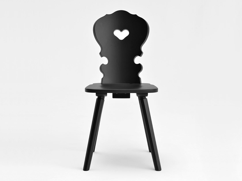 Lacquered wooden chair VIENNA | Lacquered chair by SIPA