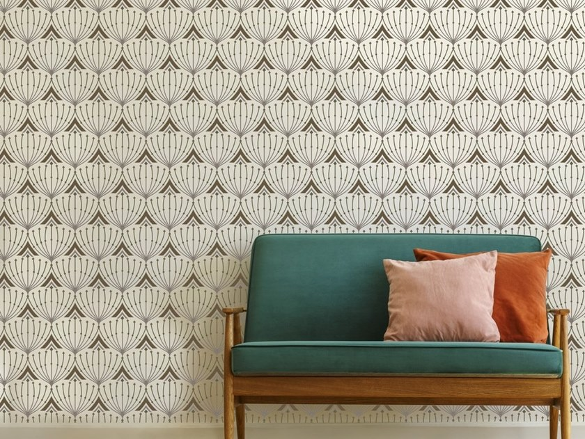 Motif non-woven paper wallpaper VIENNE by Isidore Leroy