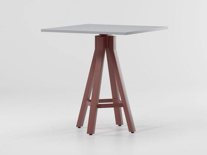 Square aluminium table VIEQUES   Square table by Kettal