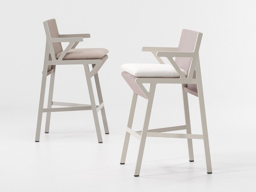 Fabric garden stool VIEQUES | Stool by KETTAL