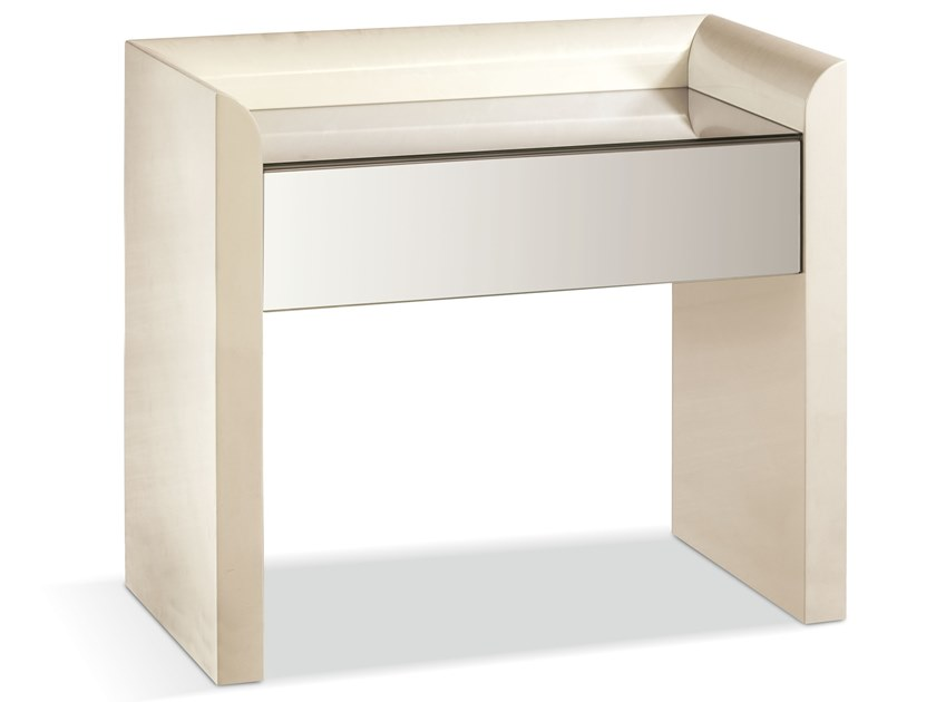 Rectangular wooden bedside table with drawers VIESTE | Bedside table by Cantori