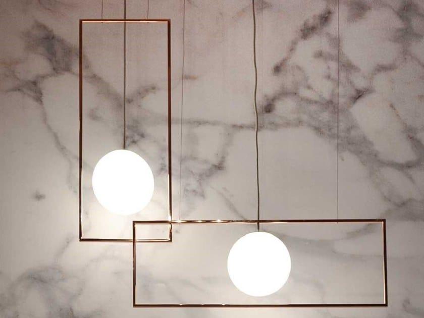 Glass pendant lamp VIEW | Pendant lamp by Adriani e Rossi edizioni