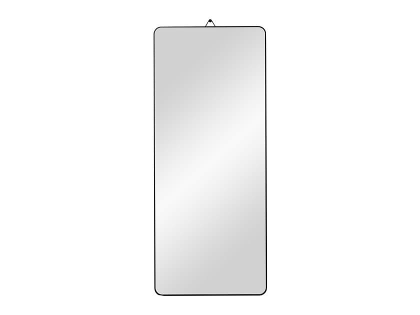 Rectangular wall-mounted framed oak mirror VIEW   Rectangular mirror by Schönbuch