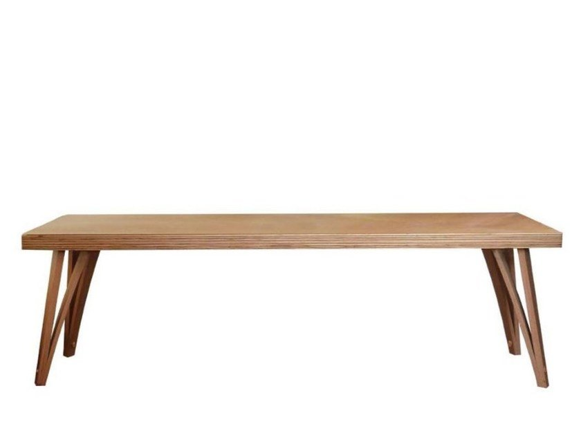 Wood veneer bench VIGGO | Bench by Danerka