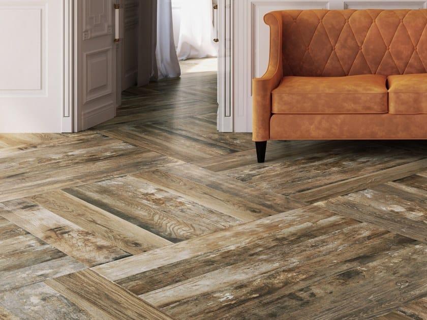 Pavimento in gres porcellanato a tutta massa effetto legno ...
