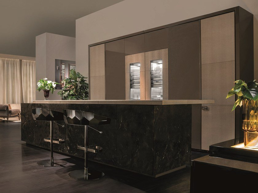 Nach Mass Küche aus Marmor VILLA ADRIANA By FENDI CUCINE