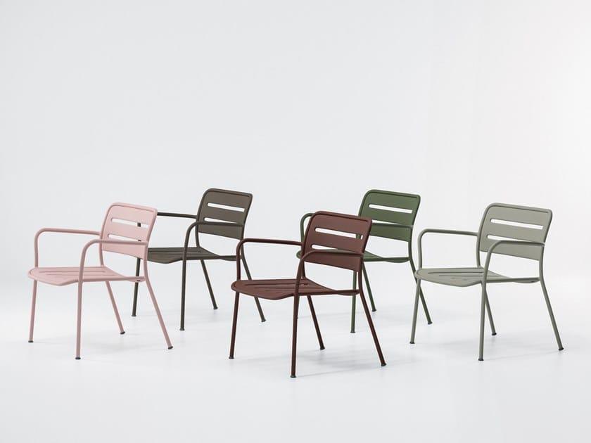 Garden stackable aluminium easy chair VILLAGE   Easy chair by Kettal