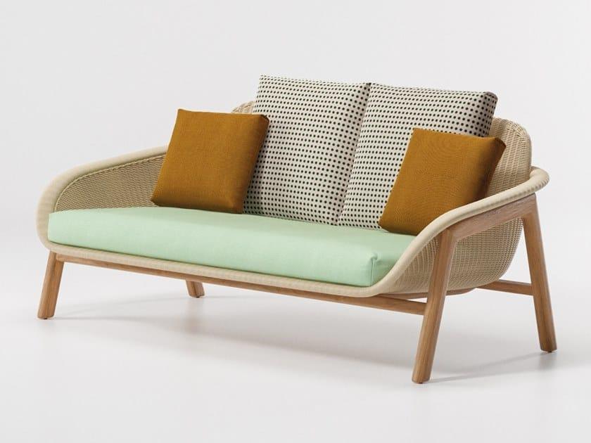 2 seater wicker garden sofa VIMINI | 2 seater garden sofa by KETTAL