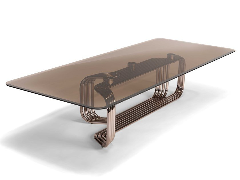 Low rectangular glass coffee table VINCENT | Coffee table by Visionnaire