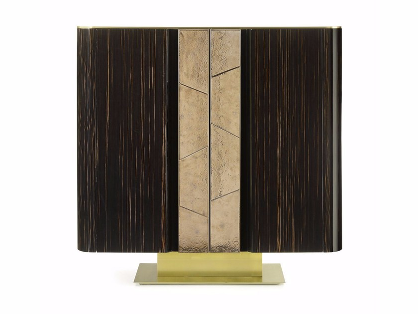Lacquered wooden highboard with doors VINCENT | Highboard by MARIONI