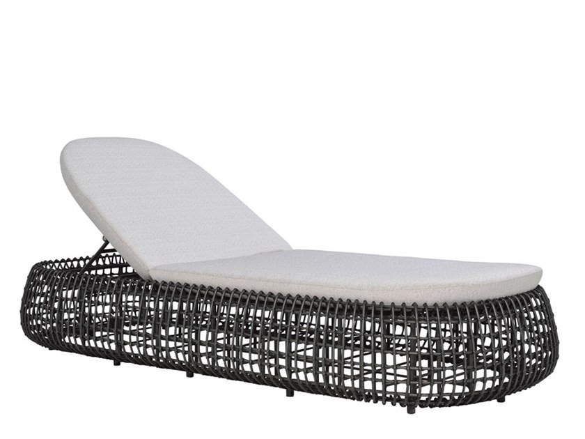 Aluminium and JanusFiber™ sun lounger VINO   Sun lounger by JANUS et Cie