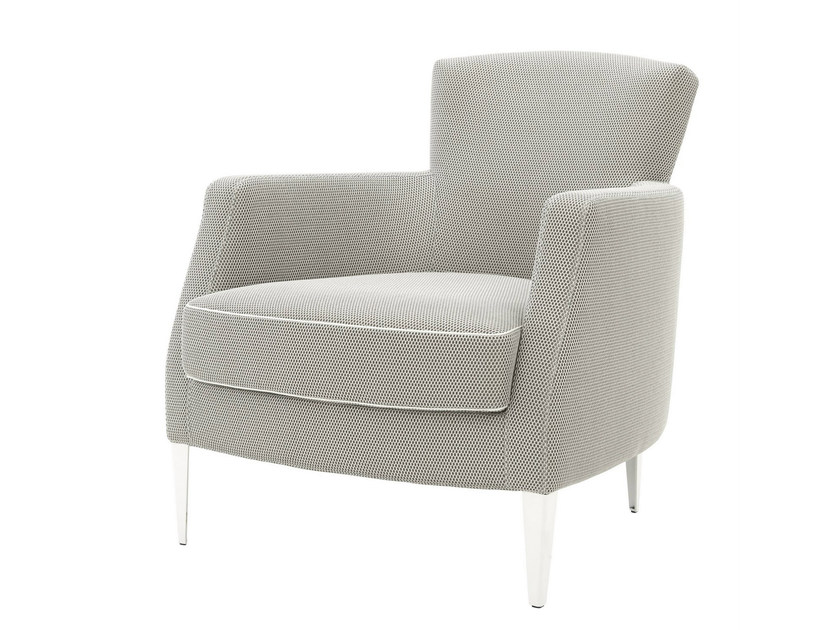 Bergere upholstered fabric armchair with armrests VINTA by Ligne Roset