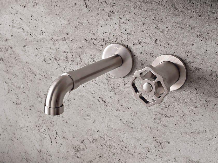 2 hole wall-mounted washbasin mixer VINTAGE | Wall-mounted washbasin mixer by Graff Europe West