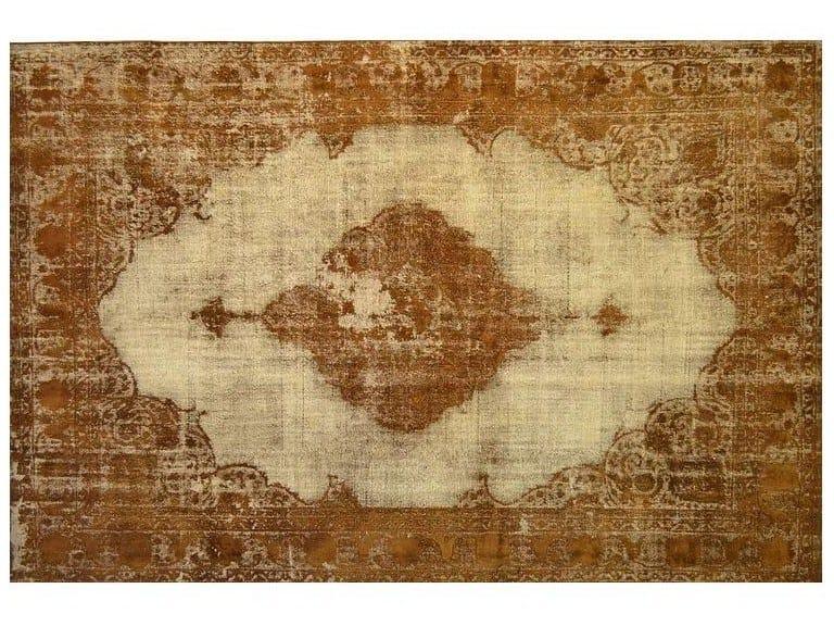 Vintage style custom rug VINTAGE CARAMEL BROWN by Mohebban