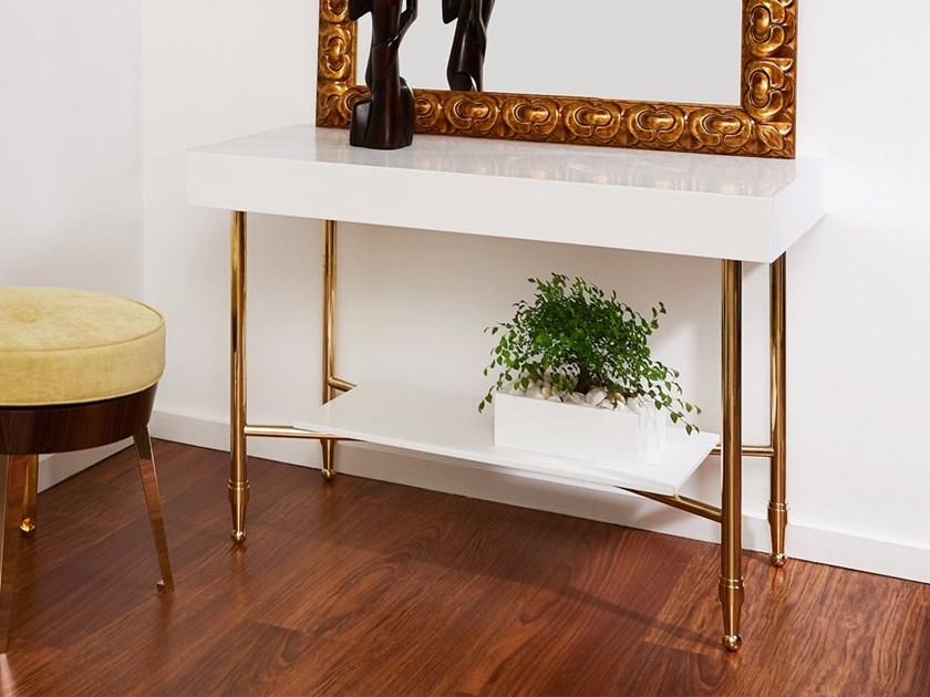 Rectangular Corian® console table VINTAGE | Console table by AMA Design