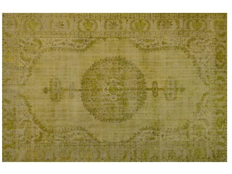 Custom rug VINTAGE LEMON GREEN by Mohebban