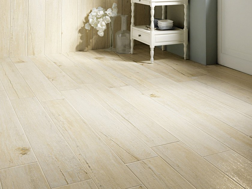 Glazed stoneware flooring with wood effect VINTAGE | Flooring by Serenissima