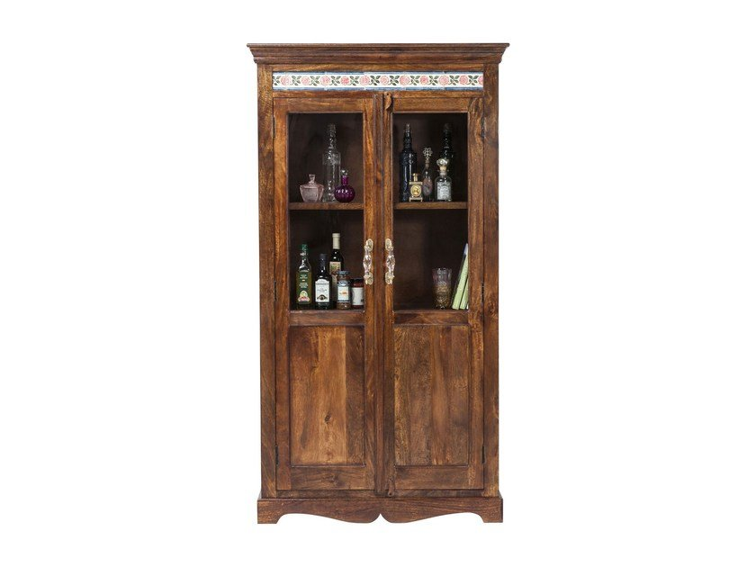 Lacquered wood and glass display cabinet VINTAGE ROMANCE | Display cabinet by KARE-DESIGN