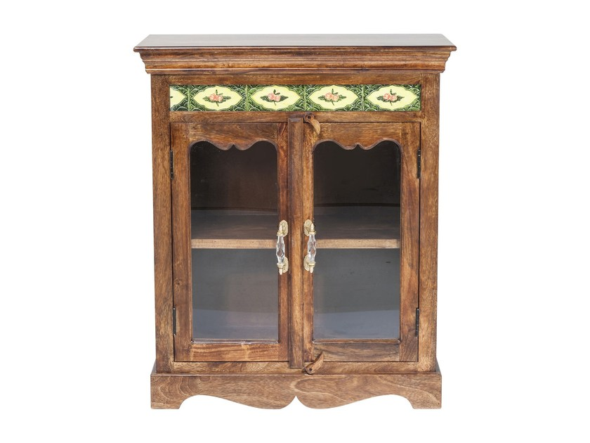 Credenza Con Ante In Vetro : Credenza laccata in legno e vetro con ante a battente vintage