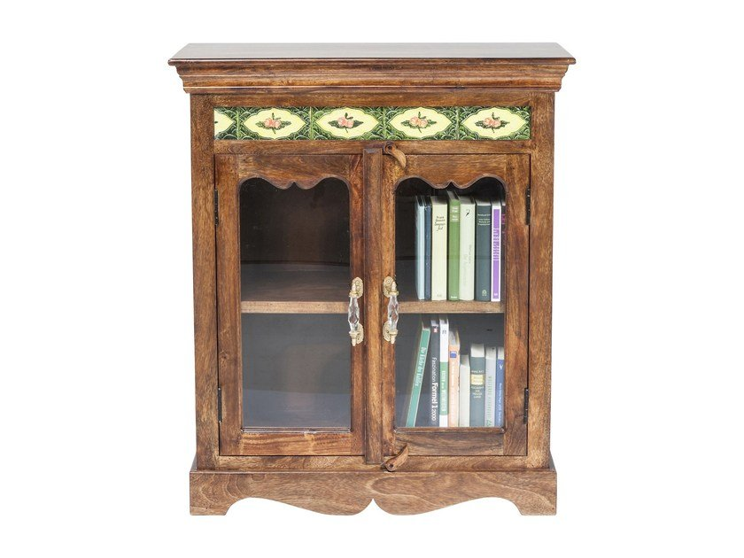 Lacquered wood and glass highboard with doors VINTAGE ROMANCE   Highboard by KARE-DESIGN