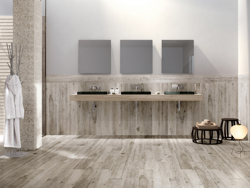 Glazed stoneware wall tiles with wood effect VINTAGE   Wall tiles by Serenissima